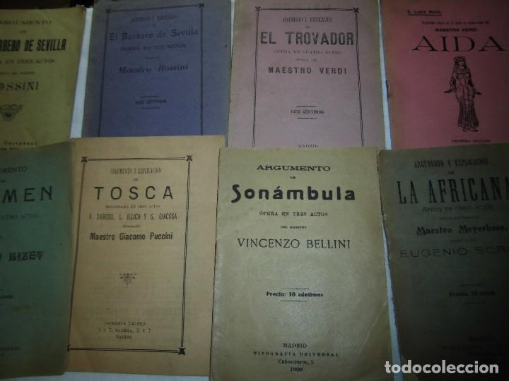 Libretos de ópera: 8 ARGUMENTOS DE OPERA 1900 LEER LOS TITULOS Y DESCRIPCION - Foto 4 - 97447515