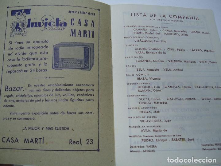 Libretos de ópera: TEMPORADA DE OPERA TEATRO ROSALÍA CASTRO LA CORUÑA 1945 - Foto 2 - 101081123