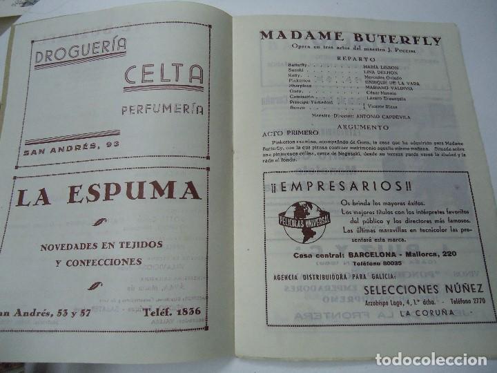 Libretos de ópera: TEMPORADA DE OPERA TEATRO ROSALÍA CASTRO LA CORUÑA 1945 - Foto 3 - 101081123