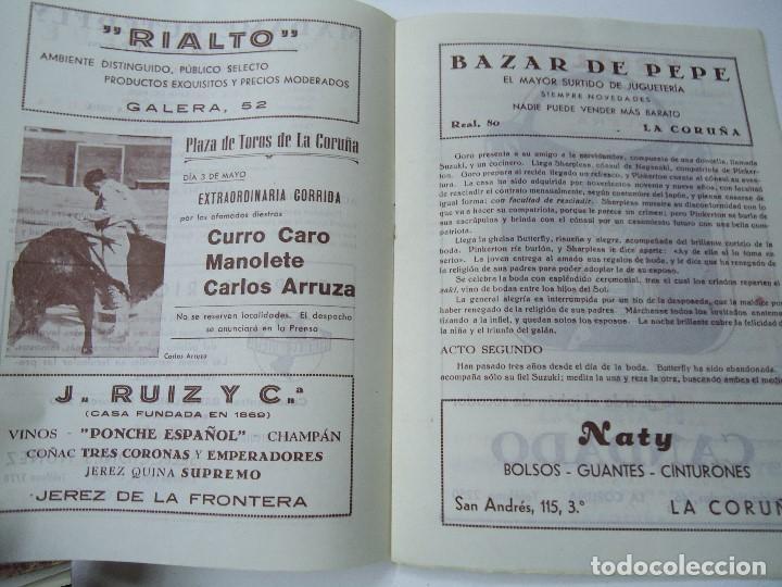 Libretos de ópera: TEMPORADA DE OPERA TEATRO ROSALÍA CASTRO LA CORUÑA 1945 - Foto 4 - 101081123