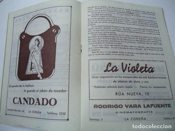 Libretos de ópera: TEMPORADA DE OPERA TEATRO ROSALÍA CASTRO LA CORUÑA 1945 - Foto 5 - 101081123