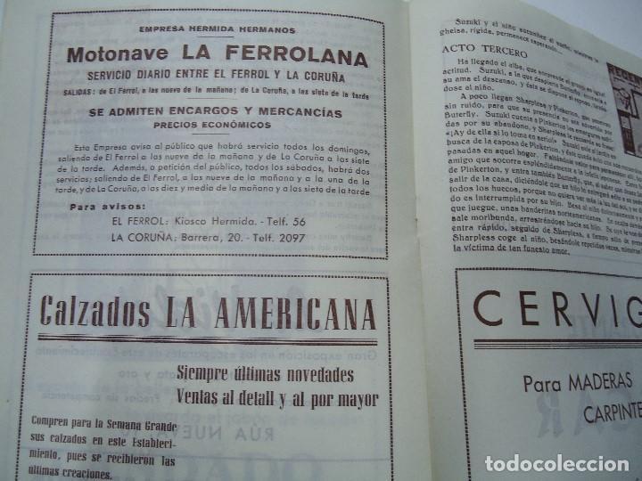Libretos de ópera: TEMPORADA DE OPERA TEATRO ROSALÍA CASTRO LA CORUÑA 1945 - Foto 6 - 101081123
