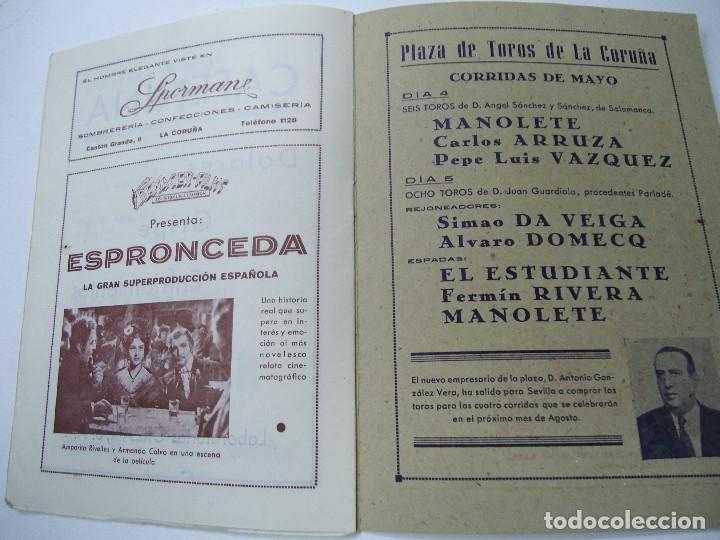 Libretos de ópera: TEMPORADA DE OPERA TEATRO ROSALÍA CASTRO LA CORUÑA 1945 - Foto 7 - 101081123
