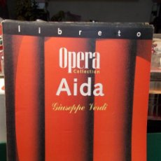 Libretos de ópera: VERDI AIDA LIBRETTO BILINGÜE COMO NUEVO. Lote 101761763