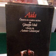Libretos de ópera: VERDI AIDA LIBRETTO BILINGÜE COMO NUEVO. Lote 101762211