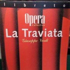 Libretos de ópera: VERDI LA TRAVIATA LIBRETTO BILINGÜE COMO NUEVO. Lote 101763619
