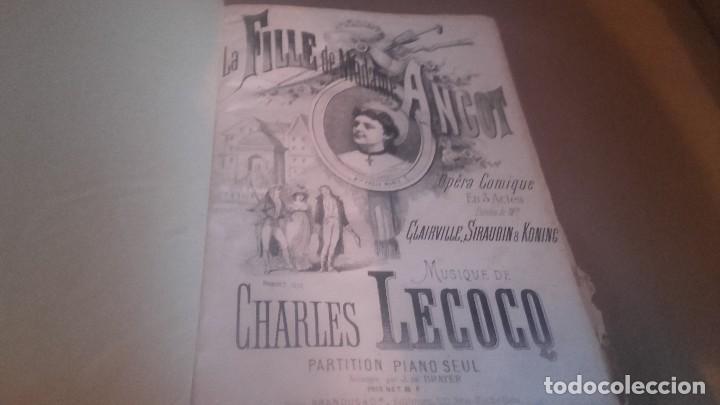 Libretos de ópera: ANTIGUO LIBRO DE PARTITURAS DE CANTO Y PIANO . LA FILLE DE MADAME ANGOT Y 40 MELODIES F. SCHUBERT - Foto 6 - 102601979