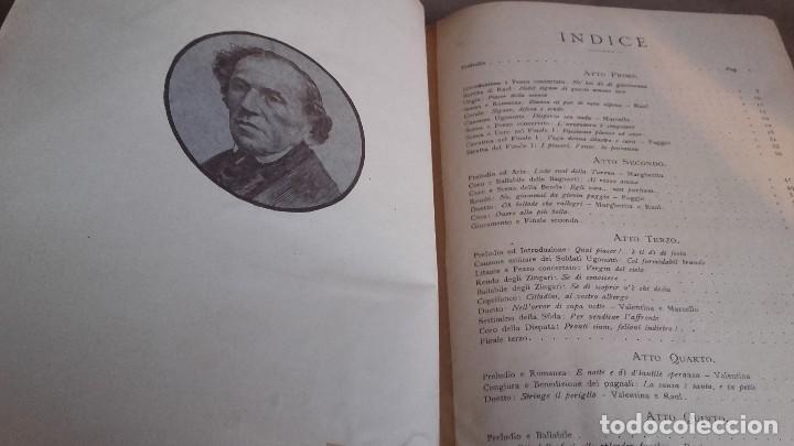 Libretos de ópera: ANTIGUAS PARTITURAS DE LA OPERA DE G.MEYERBEER GLI UGONOTTI .CON SELLO DE LA CASA JUAN AYNÉ - Foto 6 - 102699783