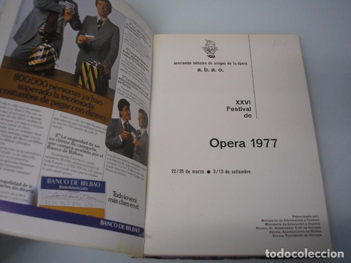 Libretos de ópera: XXVI Festival de Ópera 1977 - G. Verdi 1813-1901 - A. B. A. 0. Bilbao - Foto 3 - 105076943