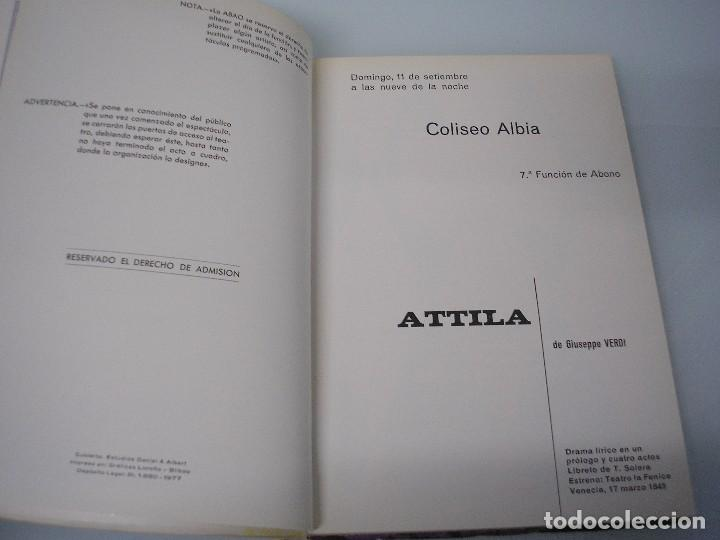 Libretos de ópera: XXVI Festival de Ópera 1977 - G. Verdi 1813-1901 - A. B. A. 0. Bilbao - Foto 4 - 105076943