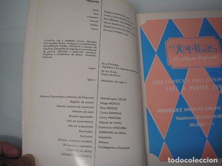 Libretos de ópera: XXVI Festival de Ópera 1977 - G. Verdi 1813-1901 - A. B. A. 0. Bilbao - Foto 5 - 105076943