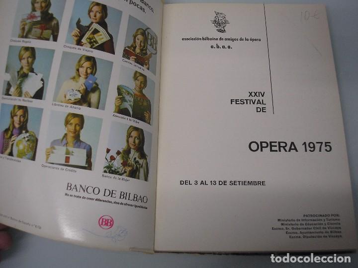 Libretos de ópera: ABAO - XXIV Festival de Ópera - I Vespri Siciliani - G. Verdi - 1975 - Foto 3 - 105077199
