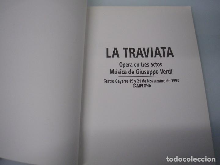 Libretos de ópera: La Traviata - Ópera en 3 actos - G. Verdi - Teatro Gayarre - Pamplona 1993 - Foto 3 - 105078139