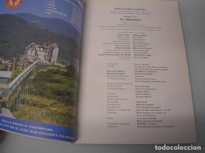 Libretos de ópera: La Traviata - Ópera en 3 actos - G. Verdi - Teatro Gayarre - Pamplona 1993 - Foto 6 - 105078139