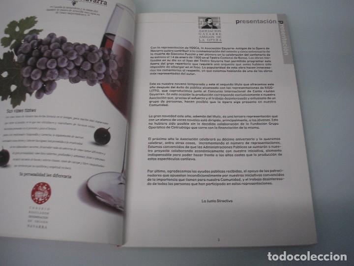 Libretos de ópera: TOSCA - G. Puccini - Teatro Gayarre - Pamplona - Octubre 1999 - Foto 4 - 105078543