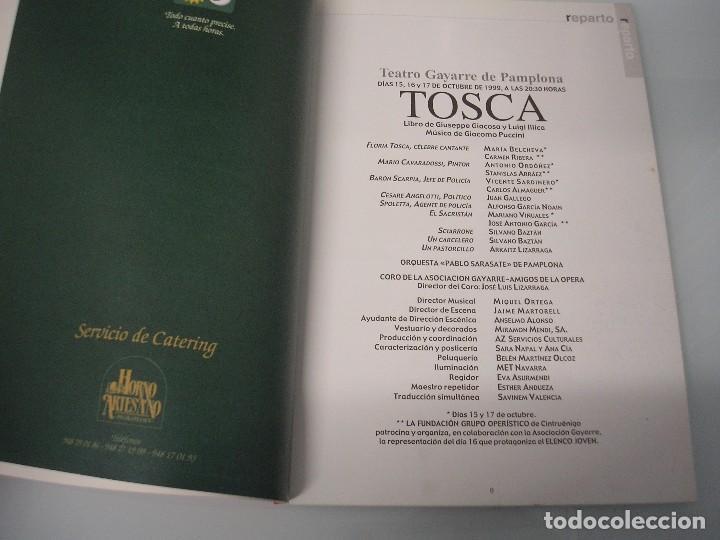 Libretos de ópera: TOSCA - G. Puccini - Teatro Gayarre - Pamplona - Octubre 1999 - Foto 5 - 105078543