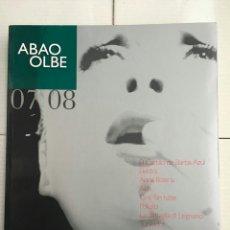 Libretos de ópera: ABAO-OLBE - 56 TEMPORADA - 2007-08. Lote 112830132