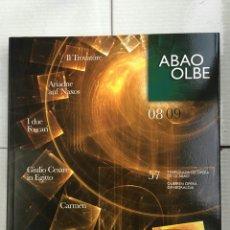 Libretos de ópera: ABAO-OLBE - 57 TEMPORADA (2008/09). Lote 112832039
