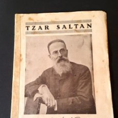Libretos de ópera: RIMSKI-KÓRSAKOV - TZAR SALTAN - 1924 - LICEO - BARCELONA . Lote 112859795