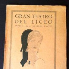Libretos de ópera: RIMSKI-KÓRSAKOV - LA NOCHE DE MAYO - 1926 - LICEO - BARCELONA . Lote 112860663