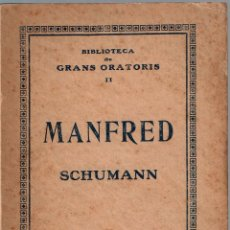 Libretos de ópera: MANFRED. SCHUMANN PENA, JOAQUIM. Lote 114908571