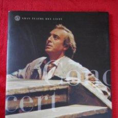 Livrets d'opéra: CONCERT DE JAUME ARAGALL, GRAN TEATRE DEL LICEU TEMPORADA 1996-1997. Lote 114978667