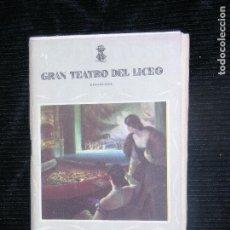 Libretos de ópera: F1 MADAMA BUTTERLY GRAN TETRO DEL LICEO TEMPORDA DE INVIERNO 1955-1956. Lote 115723419