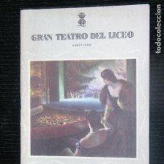 Libretos de ópera: F1 L' ELISIR D' AMORE GRAN TEATRO LICEO INVIERNO 1955-1956. Lote 115723859