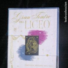 Libretos de ópera: F1 LOS MAESTROS CANTORES DE NUREMBERG INVIERNO 1952-1953 GRAN TEATRO DEL LICEO. Lote 115725179