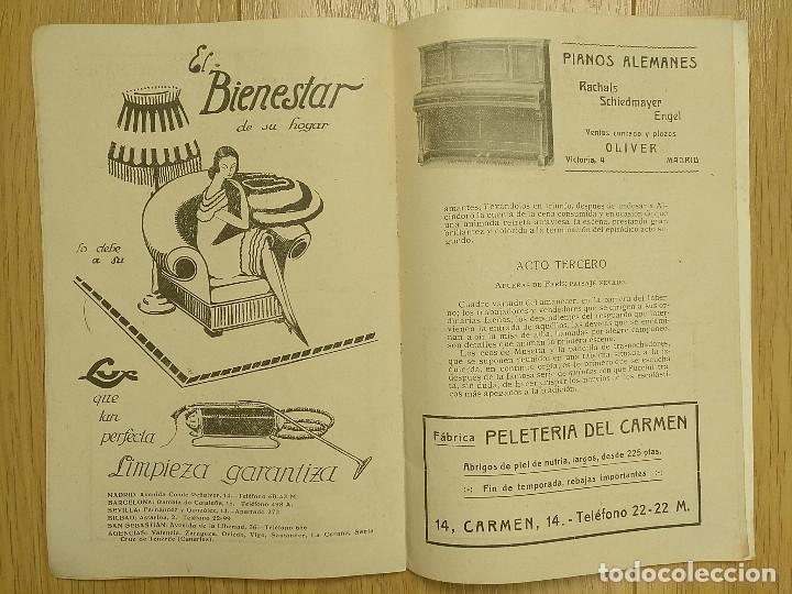Libretos de ópera: LA BOHEMIA - PROGRAMA TEATRO APOLO - 1926 - Foto 7 - 118170499