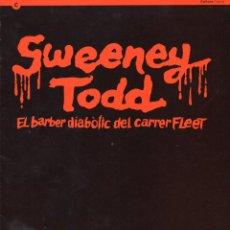 Libretos de ópera: SWEENEY TODD - PROGRAMA TEATRE POLIORAMA DE BARCELONA - CONSTANTINO ROMERO - 24 PÁGINAS.. Lote 123699350