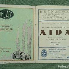 Libretos de ópera: PROGRAMA OPERA AIDA 1926 GRAN TEATRO DEL LICEO. Lote 120957515