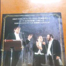 Libretos de ópera: F-508- GUÍA CARTEL JAPÓN LOS TRES TENORES. PLÁCIDO DOMINGO, JOSÉ CARRERAS, LUCIANO PAVAROTTI. Lote 122140671