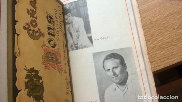 Libretos de ópera: Valencia 1946. Teatro Principal. Programa de Opera Italiana. Abundante publicidad. Fotos - Foto 4 - 122453883