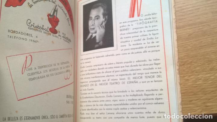Libretos de ópera: Valencia 1946. Teatro Principal. Programa de Opera Italiana. Abundante publicidad. Fotos - Foto 5 - 122453883