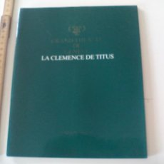 Libretos de ópera: PROGRAMA DE OPERA LA CLEMENCE DE TITUS 1986/87 PROGRAMME THÉATRE DE GENEVE TEATRO GINEBRA SUIZA. Lote 123547651