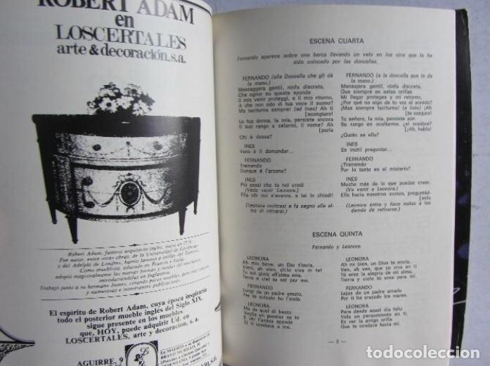Libretos de ópera: XXIII FESTIVAL DE ÓPERA 1974 BILBAO LA FAVORITA (DONIZZETTI) LIBRETO + FOLLETO DE MANO + 2 ENTRADAS - Foto 3 - 128378387