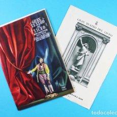 Libretos de ópera: LOTE 2 LIBRETOS GRAN TEATRO DEL LICEO TEMPORADA OFICIAL 1943-1944 (36 PAG) Y CUARESMA 1949 (20 PAG). Lote 131066304