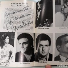 Libretos de ópera: ANTIGUO PROGRAMA CON FIRMA AUTOGRAFA ORIGINAL DE MARIANA NICOLESCO. Lote 132787958