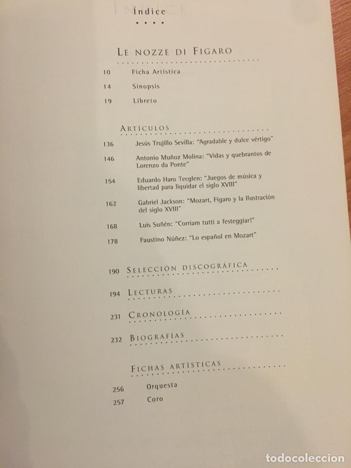 Libretos de ópera: Libreto y entradas le nozze di Fígaro. Mozart. Teatro Real de Madrid 2003 - Foto 2 - 135824490