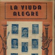 Libretos de ópera: LA VIUDA ALEGRE, DE VÍCTOR LEÓN STEIN Y FRANZ LEHAR. AÑO ¿? (ÓPERA). Lote 138564426