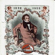 Libretos de ópera: CENTENARIO DE FRANZ SCHUBERT. AÑO 1928. (ÓPERA). Lote 138584150