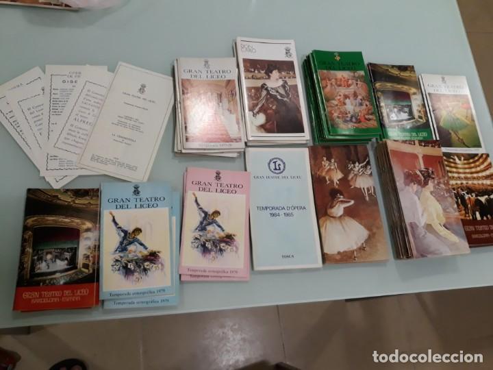 LOTE DE 58 PROGRAMAS - TEATRO DEL LICEO - TEMPORADAS Y OBRAS 1977/1985 (Música - Libretos de Opera)