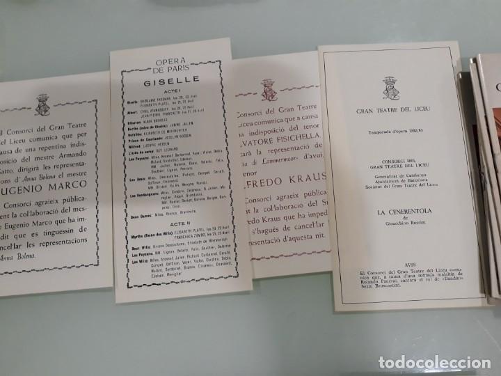 Libretos de ópera: LOTE DE 58 PROGRAMAS - TEATRO DEL LICEO - TEMPORADAS Y OBRAS 1977/1985 - Foto 2 - 138795462