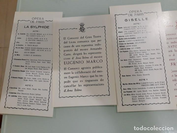 Libretos de ópera: LOTE DE 58 PROGRAMAS - TEATRO DEL LICEO - TEMPORADAS Y OBRAS 1977/1985 - Foto 3 - 138795462