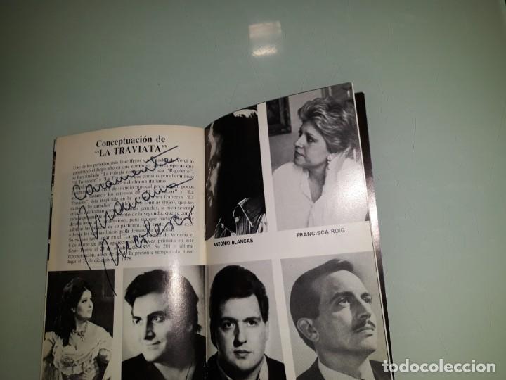 PROGRAMA OPERA CON FIRMA ORIGINAL DE MARIANA NICOLESCO (Música - Libretos de Opera)