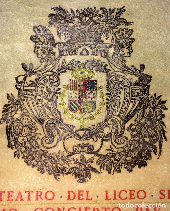 Libretos de ópera: PAU CASALS. PROGRAMA GRAN TEATRO DEL LICEO. 2o Y ÚLTIMO CONCIERTO. ESPAÑA. 19 MAYO 1924 - Foto 4 - 139187690