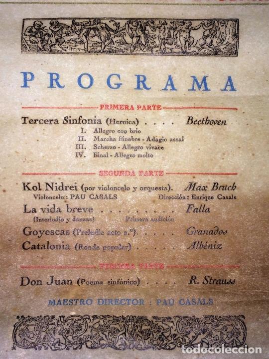 Libretos de ópera: PAU CASALS. PROGRAMA GRAN TEATRO DEL LICEO. 2o Y ÚLTIMO CONCIERTO. ESPAÑA. 19 MAYO 1924 - Foto 5 - 139187690