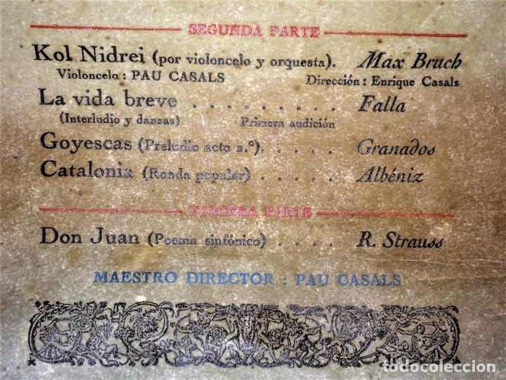 Libretos de ópera: PAU CASALS. PROGRAMA GRAN TEATRO DEL LICEO. 2o Y ÚLTIMO CONCIERTO. ESPAÑA. 19 MAYO 1924 - Foto 6 - 139187690