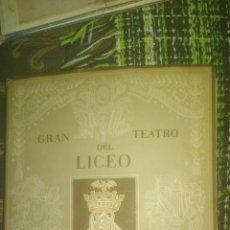 Libretos de ópera: LICEO. BARCELONA. PROGRAMA 1953 1954. FAUSTO. Lote 140360760